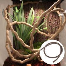 Artificial Vine Reptile Box Case Decoration Lizard Rattan Bend Plant Ornament 1m