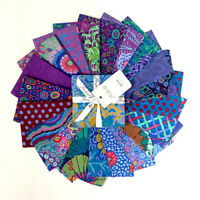 "FreeSpirit Kaffe Fassett Peacock Charm Pack 42-5"" Fabric Squares Cotton Quilting"