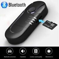 New USB FM Transmitter Powered Bluetooth Car TF Music Adapter Wireless Receiver