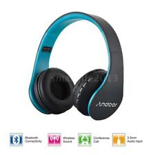 Foldable Wireless Bluetooth Headphone Earphone Headset Handsfree Mp3 SD FM R9t9 Blue