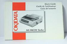 OKIDATA ML390/391 Turbo User's Guide Free Priority Shipping