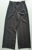 Dissh Size 10 Casual Black Pinstripe Stripe Pleated High Rise Wide Leg Pants