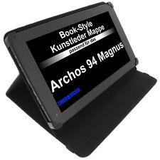 Sac pour Archos 94 Magnus STYLE LIVRE ÉTUI DE PROTECTION TABLET CASE PORTE Noir