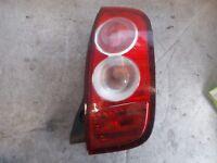 NISSAN MICRA K12 (MK3) 2002-2007 PRE FACELIFT OSR DRIVER SIDE REAR LIGHT