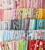 100x coloré Assorti Tissu en Coton Carreaux Patchwork Coupon Fleur textile 10cm