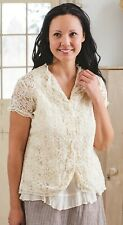 Victorian Trading Co April Cornell Sophia Cover Ivory Lace Blouse XL