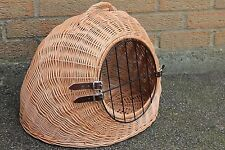 MEDIUM - Wicker Pet Carrier Igloo /Dog Cat Rabbit, Natural Crate-HANDMADE