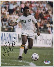 PELE signed New York Cosmos 8x10 photo AUTOGRAPH auto Brazil World Cup PSA DNA
