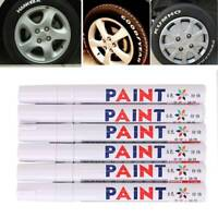 6 x Reifenmarker Reifenmarkierungsstift Weiß KFZ Reifen Stift ReifenmarkiersF0X2
