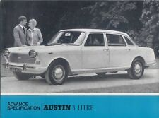 Austin 3 Litre 1967-68 Original Advanced Specification Preview Brochure No. 2453