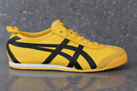 Onitsuka Tiger Mexico 66 Trainers Yellow Black  Asics Leather Ship Worldwide