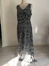 Robe maxi motif gris fond noir BEST MOUNTAIN taille 40