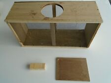 Beekeeping Honey-Bee Box Wood w Screened Sides and separate Queen Bee cage Cover