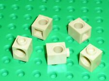 5 x LEGO Tan Technic Brick ref 6541 / Set 10187 4482 4729 8039 8089 4504 7666...