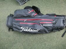 Titleist Staydry Lightweight Black 4 Way Divider Stand Bag