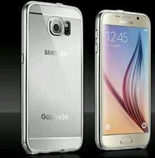 Luxus Aluminium Acryl Back Cover metall bumper Silber Samsung s6