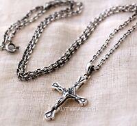 314 Men Women Sterling Silver 925 Cross Pendant Jesus Crucifix Chain Necklace
