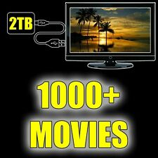 2TB Portable Hard Drive with Over 1000+ Movies Included! Just Plug & Play!!!