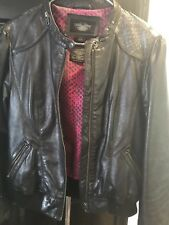 Harley Davidson Womens Large #1 Skull Bomber Black Label Lambskin Leather Jacket