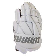 "New Warrior Burn Fatboy box lacrosse goalie gloves 13"" White Lax indoor goal"