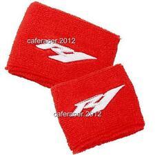 YAMAHA R1 BRAKE/CLUTCH RESERVOIR SOCKS FLUID TANK CUP COVER SET RED&WHITE