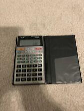 Sharp Calculator EL-738 Business Financial Calculator With Folder Sleeve Cover