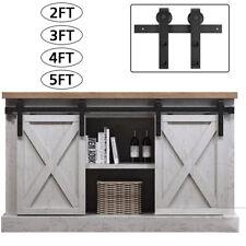 2/3/4/5/6.6Ft Rustic Sliding Barn Wood Double Door Closet Cabinet Hardware Track