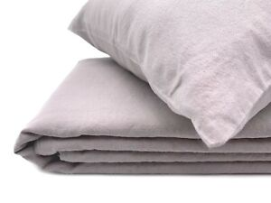 "Bettwäsche-Set Halbleinen ""Soft Washed Finish"" (135x200, 40x80) Gray"