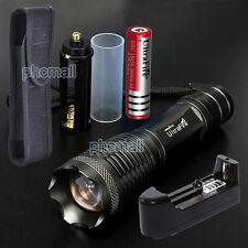 10000 lumen CREE XM-L T6 LED Flashlight Focus Torch Light Lamp +18650 Battery