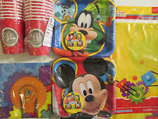 MICKEY MOUSE FUN PARTY TIME ! Birthday Party Supplies Set Pack Kit for 16