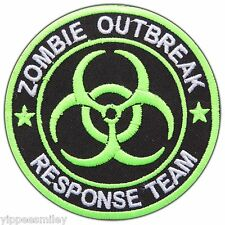 Resident Evil Zombie Outbreak Response Team Biohazard Green Iron on Patch #0195