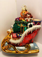 Christopher Radko Ornament Sleigh with Toys, 1016254, Great Details