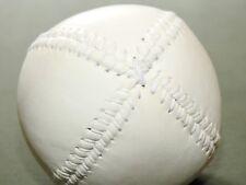 "Antique 1860s Style WHITE LEATHER ""LEMON PEEL"" BASEBALL MINT Repro Home Decor"