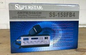 Ranger Superstar SS-158FB4 10 Meter AM/FM/USB/LSB/CW Mobile Radio NEW