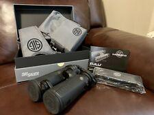 Sig Sauer Zulu5 12x42mm Hd Binocular   Black   New   Bino harness included