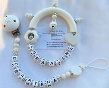 Set SONAGLINO PORTACIUCCIO personalizzabile nome BAMBINA Battesimo bomboniera