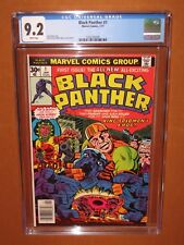 Black Panther #1 CGC 9.2 WHITE pages! 1977 Jack Kirby 12 HD pix  Ships INSURED!