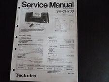 Original Service Manual Technics  Sound Processor SH-CH 700