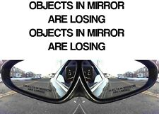 PAIR Black Objects In Mirror Are Losing Decals Funny Sticker New Free Shipping