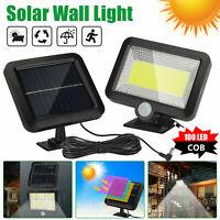 100 LED Solar Power PIR Motion Outdoor Garden Light Security Flood Wall Lamp COB