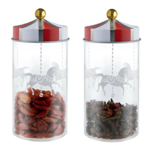 ALESSI Circus Spice Jars 2 Piece Set MW68S2 FREE DELIVERY