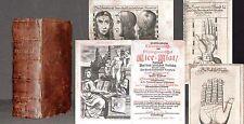 Chiromantisch-physiognomisches Klee-Blat 1695 Wahrsagen Handlesekunst Esoterik