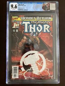 Thor #1 CGC 9.6 Sunburst 🔥 Heroes Return 🔥 Custom Thor Label