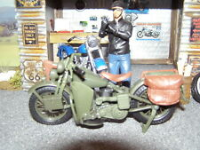 HARLEY '42 Flat Head Army - Olive - 1:18 Diecast - Series 26