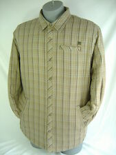 New Mens Small DC Shoes Syndicate Reversible Button Brown Plaid Jacket $58