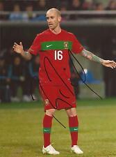 PORTUGAL: RAUL MEIRELES SIGNED 8x6 ACTION PHOTO+COA *EURO 2012*