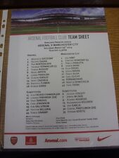 29/03/2014 Colour Teamsheet: Arsenal v Manchester City  . Thanks for viewing our