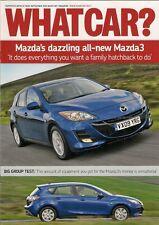 Mazda 3 1.6D TS2 5-dr Road Test 2009-10 UK Market Brochure Focus 308 Megane
