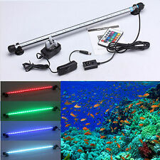 Top Aquarium Fish Tank LED Light SMD RGB White Blue Strip Light Bar Lamp Lights