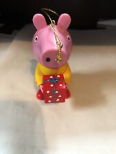 Christmas Peppa Pig with Present Ornament